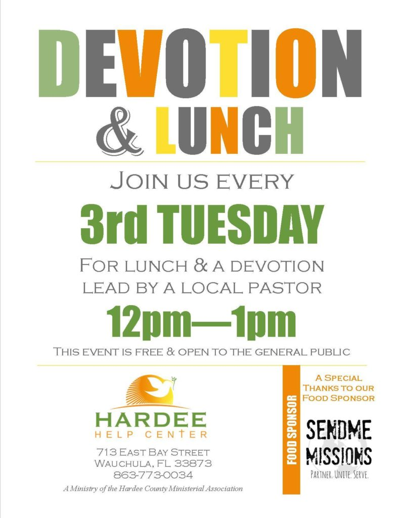 HHC Devotion & Lunch Poster